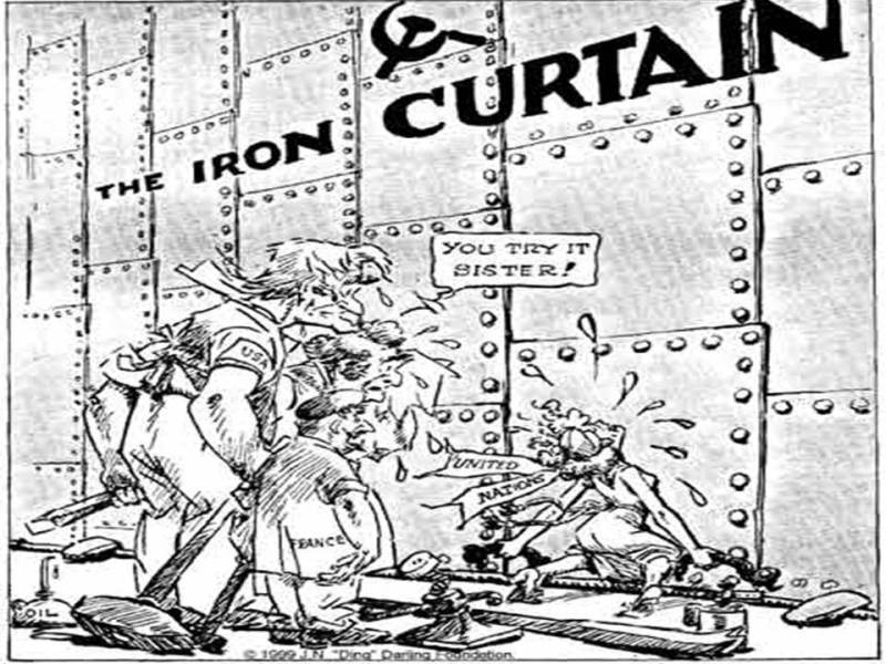 The Iron Curtain Map And Cartoons