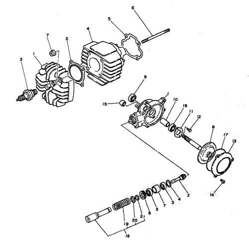 Yamaha PW50 PW80 Schematics - PWOnly - Parts Diagrams