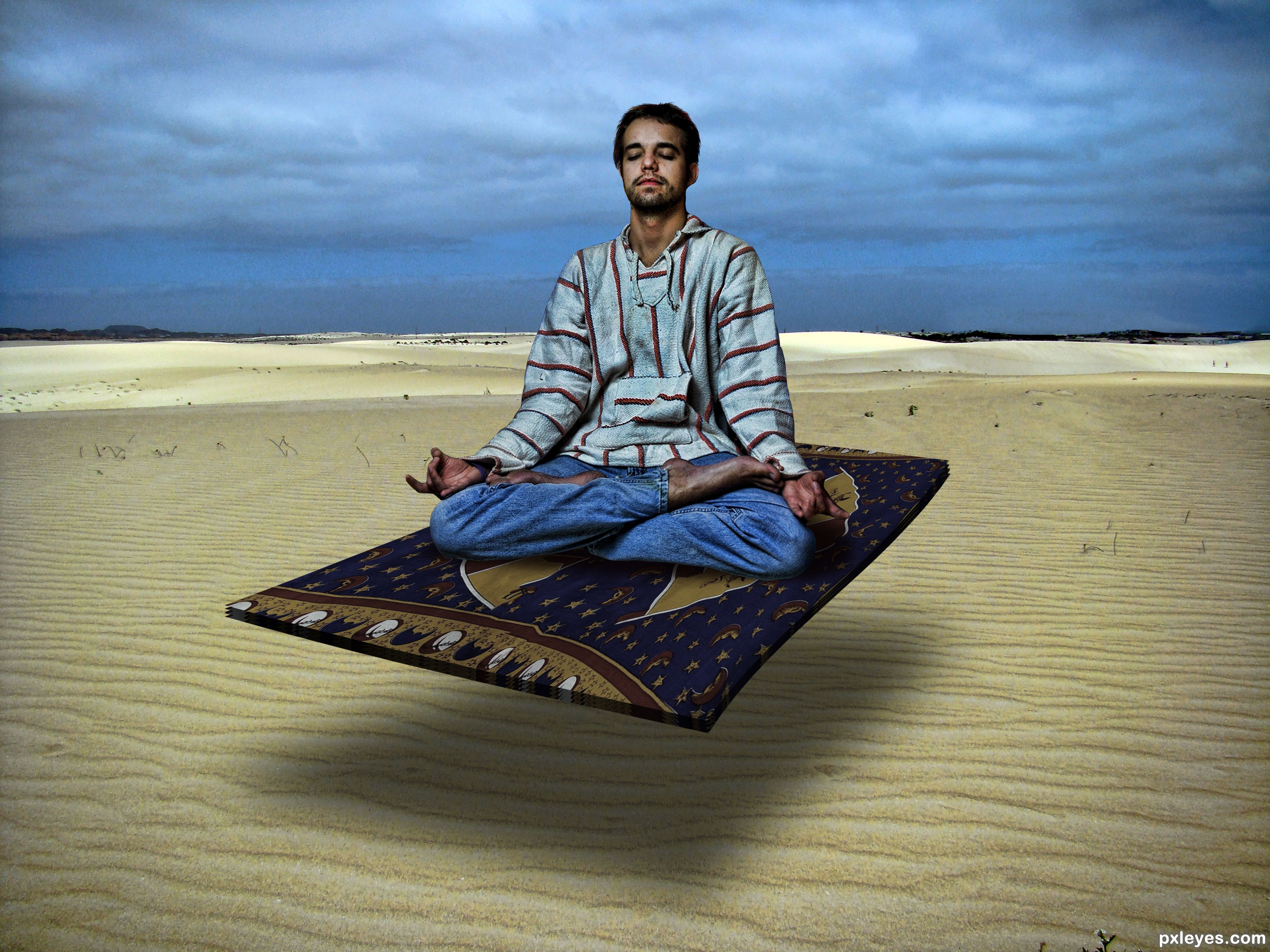 Flying Carpet Hipster On A Flying Carpet Picture, By Drivenslush For