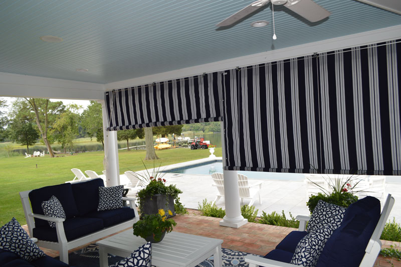 Canvas Porch Roller Curtains Privacy Shade Protection