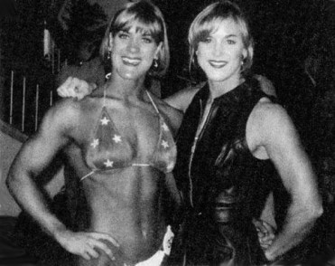 A young Chyna at a bodybuilding contest