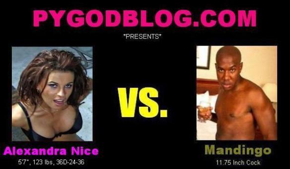 Alexandra Nice vs Mandingo 11.75 inch cock length