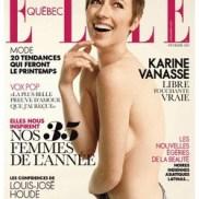 Karine Vanasse nue dans Elle Québec
