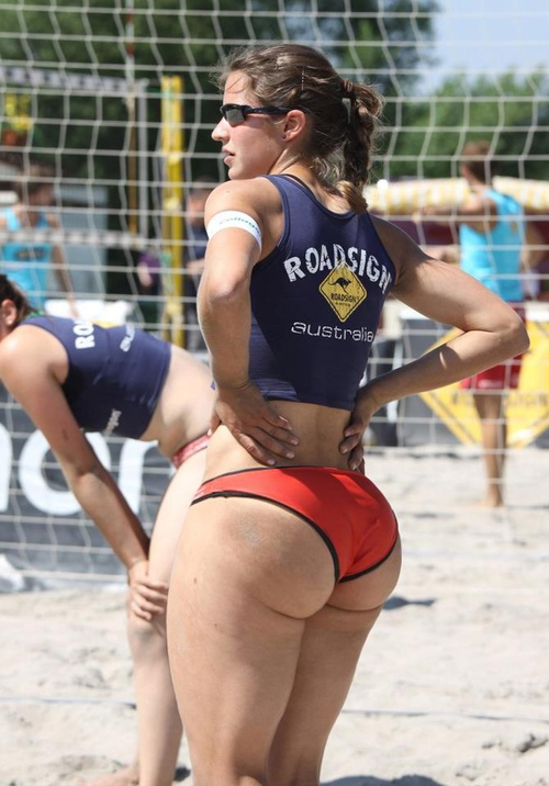 volley ball whooty ass