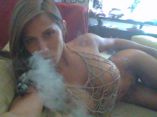 naked pornstars smoking weed