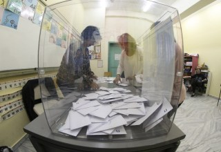 Vote counting after the end of the electoral process for the regional, local and European elections in Patras, Greece on June 2, 2019. / Καταμέτρηση ψήφων μετά το πέρας της εκλογικής διαδικασίας για τις Αυτοδιοικητικές εκλογές και Ευρωεκλογές, Πάτρα, 2 Ιουνίου, 2019