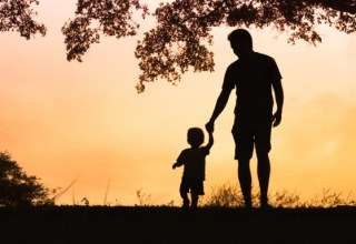 father-son-sunset