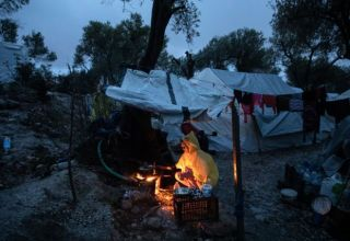 Moria refugee camp on the island of Lesbos on February 6, 2020. / Μόρια, Λέσβος, 6 Φεβρουαρίου 2020.