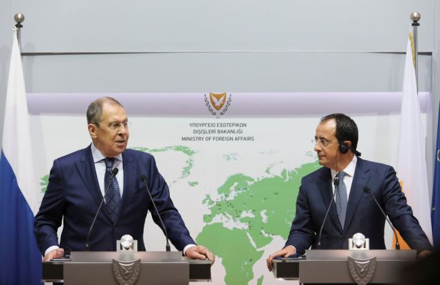 Russian Foreign Minister Sergei Lavrov speaks during a joint news conference with Cypriot Foreign Minister Nikos Christodoulides, in Nicosia, Cyprus September 8, 2020. REUTERS/Yiannis Kourtoglou