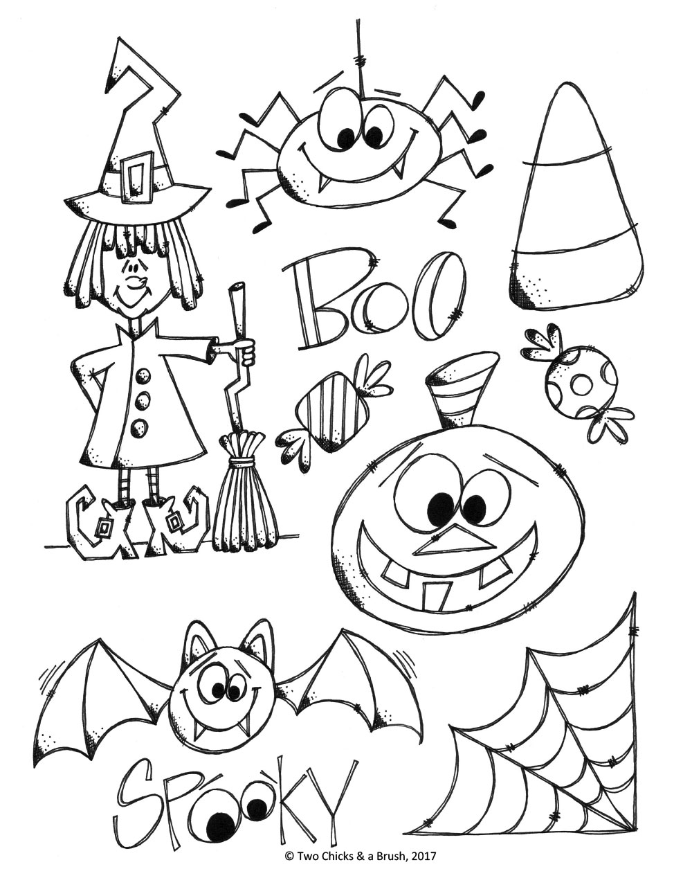 Images Of Halloween Coloring Page Auto Electrical Wiring Diagram Headlight Range Level Sensor Connector Pigtail Plug 0406 Vw Doodles U2013 Pyop Studio Stuff