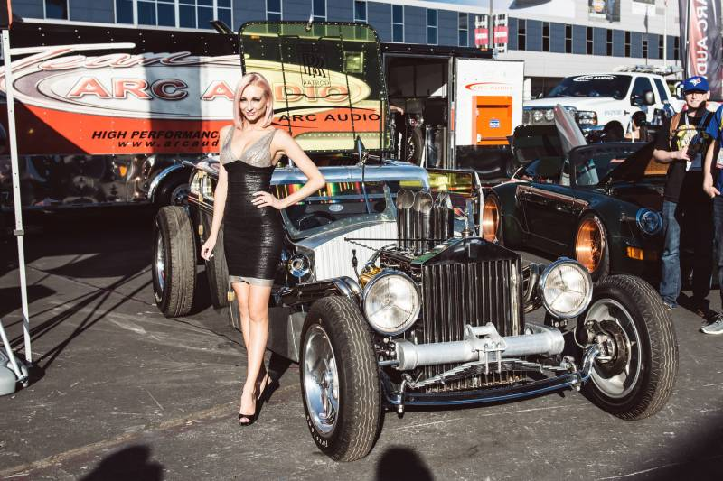 Girls And Trucks Wallpaper 1936 Rolls Royce Rat Rod