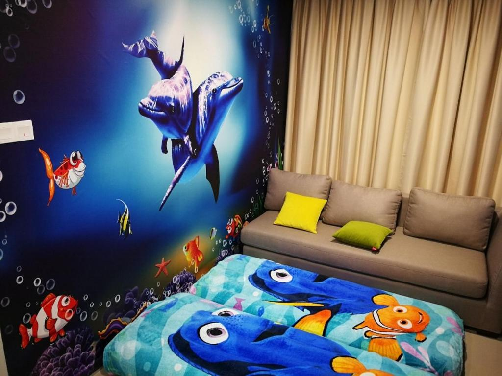 Disney Minion Design 8 Personnes Pax I City Appartement Shah Alam