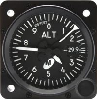MD15-221, Model MD15 Altimeter, avionics instruments near toronto airport yyz