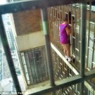 Girl Rescued from 24th Floor Window Bars in China