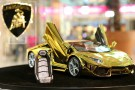 Gold Lamborghini Aventador Model at Dubai Mall