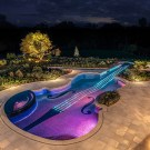 Dazzling Violin Shaped Swimming Pool