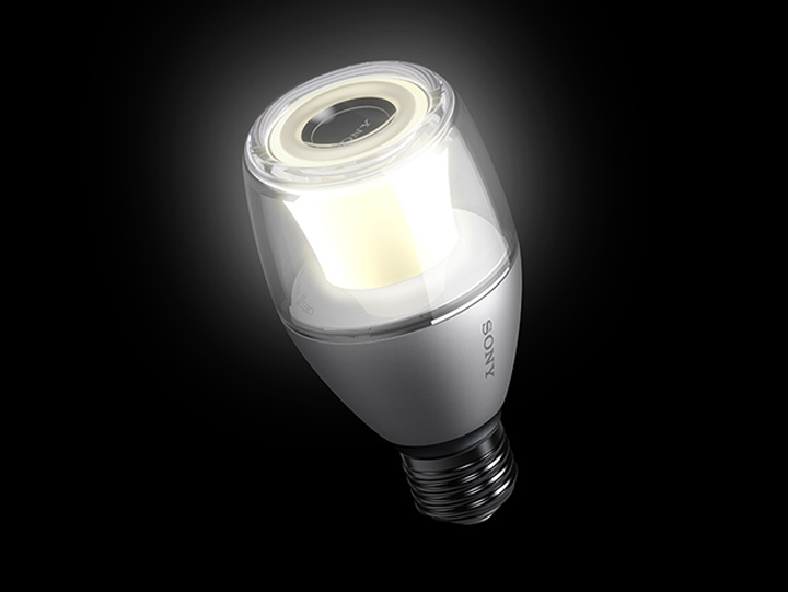 Sony led light bulb with bluetooth speaker q8 all in one for Led light bulb with built in bluetooth speaker