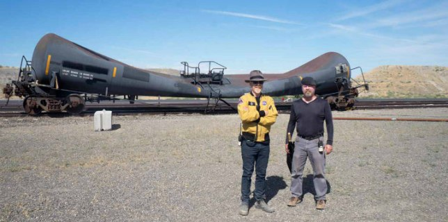 Discovery Mythbusters Train Tanker Implode