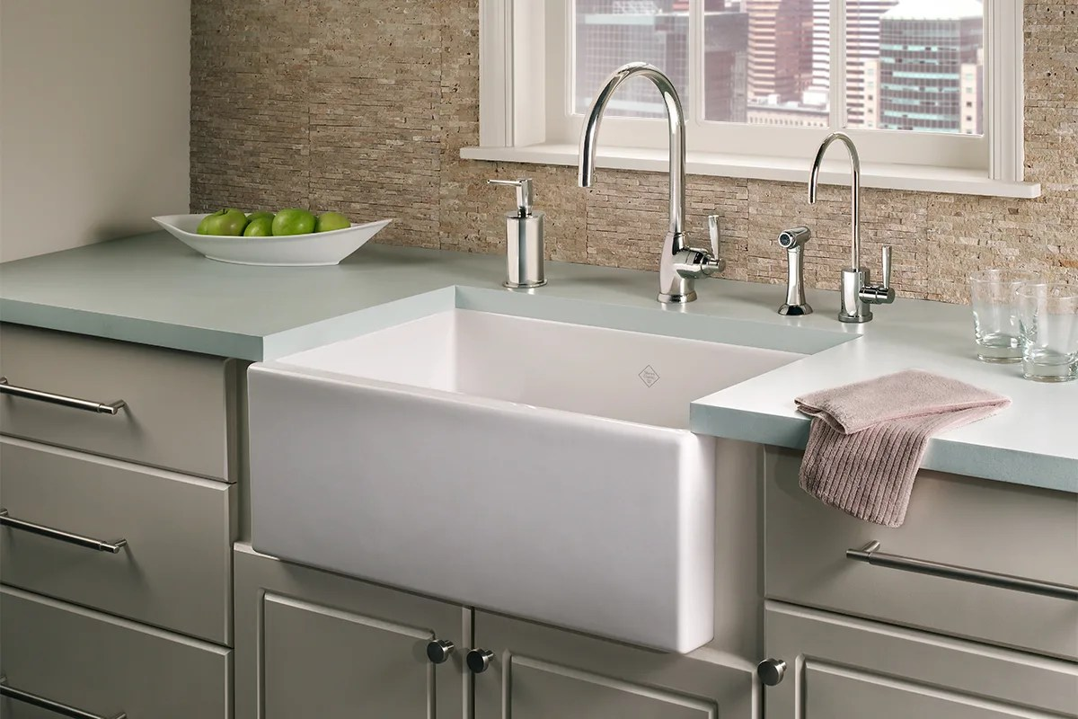 Shaw Farmhouse Sink Reviews How To Repair A Scratched Fireclay Sink Qualitybath Discover