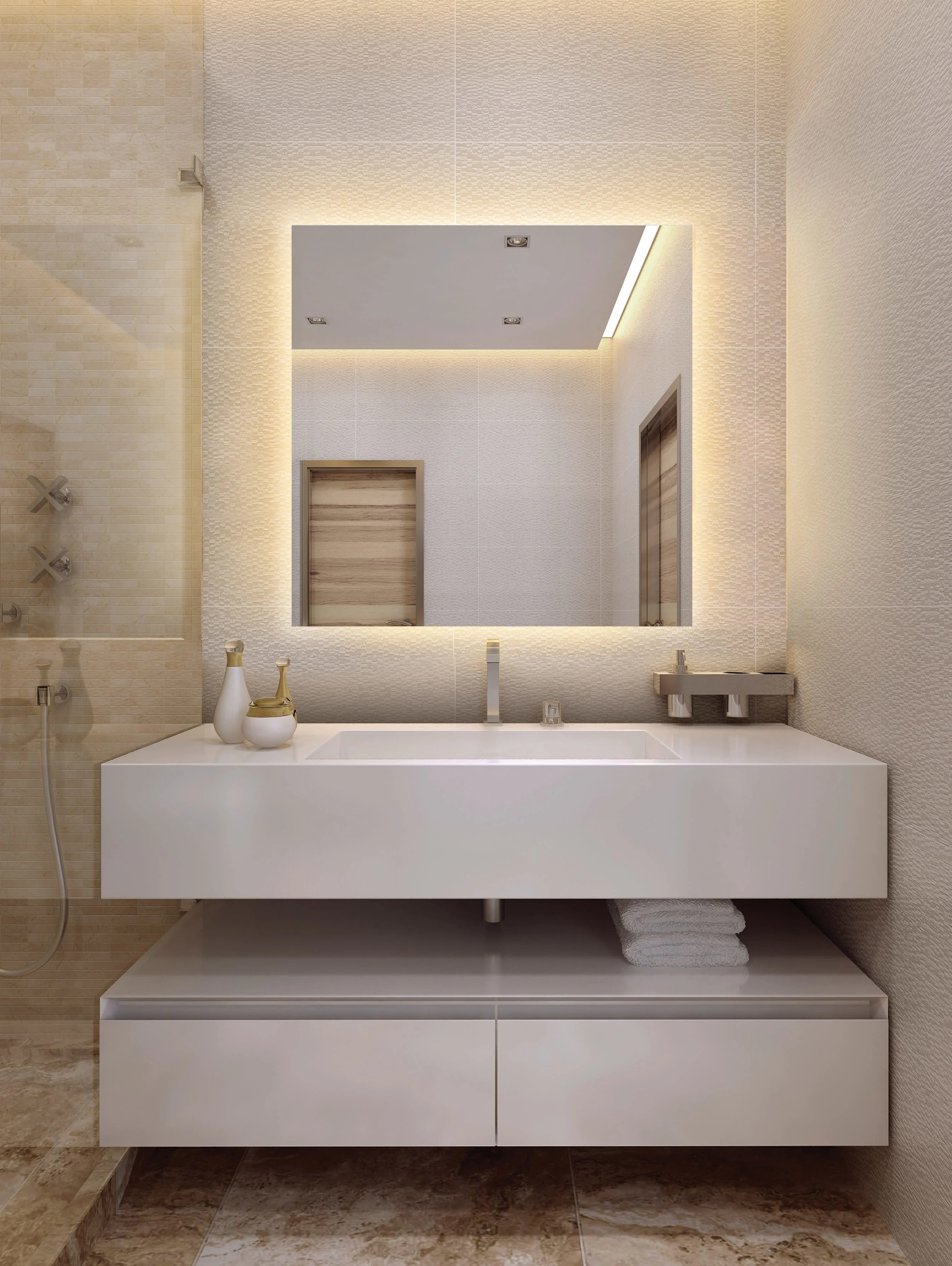 Electric Mirror Ser 2436 Serenity Lighted Mirror Qualitybath Com