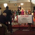 Lara Trump, wife of Eric Trump, spoke to the crowd about the character of the Trump family. Tyler Fleming