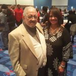 Toni Baker-Tyson with civil rights Freedom Rider Charles Jones at the 23rd Annual MLK Holiday Breakfast at the Charlotte Convention Center.
