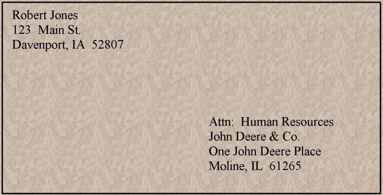 Sample Resume Envelope