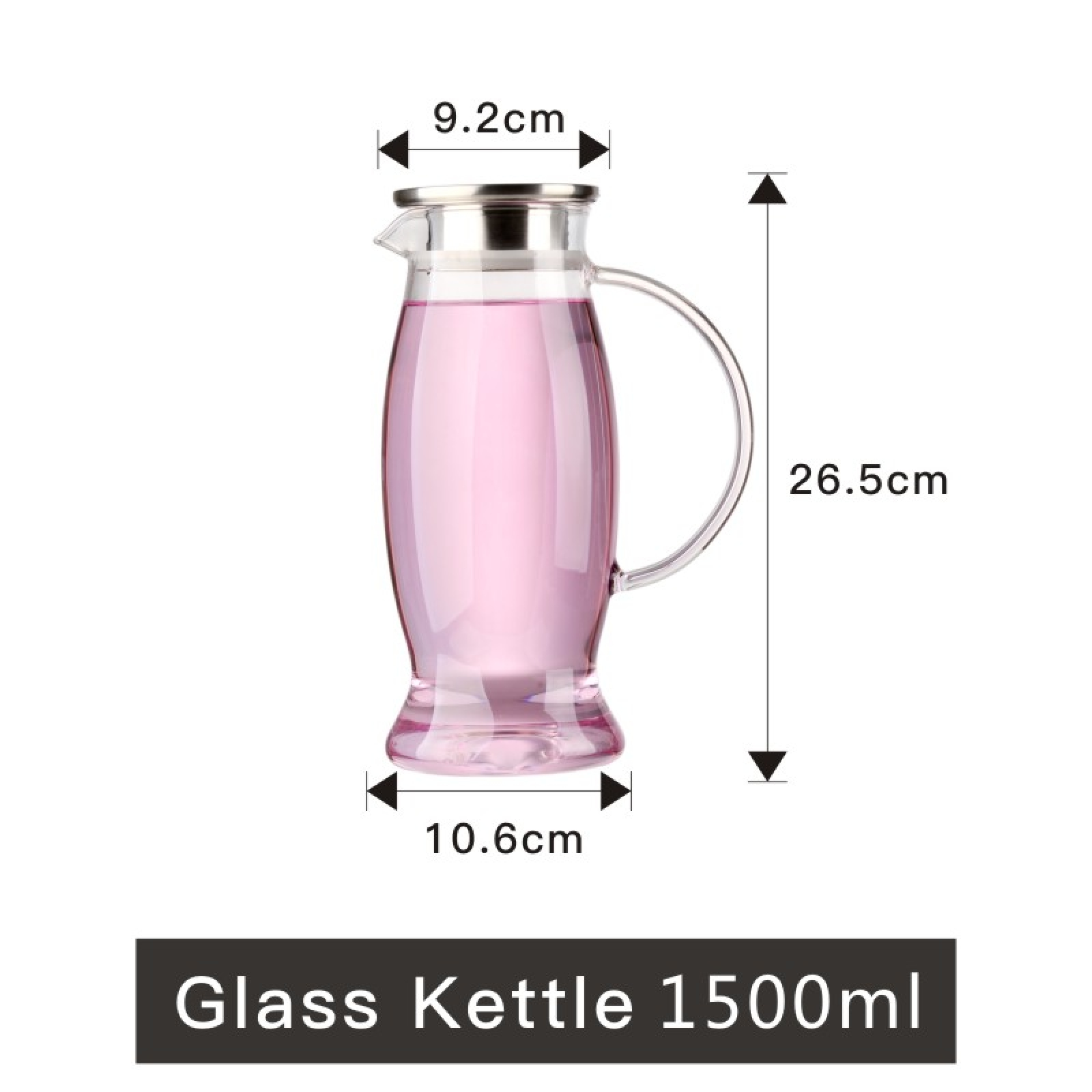 Heat Proof Pitcher Transparent Kettle
