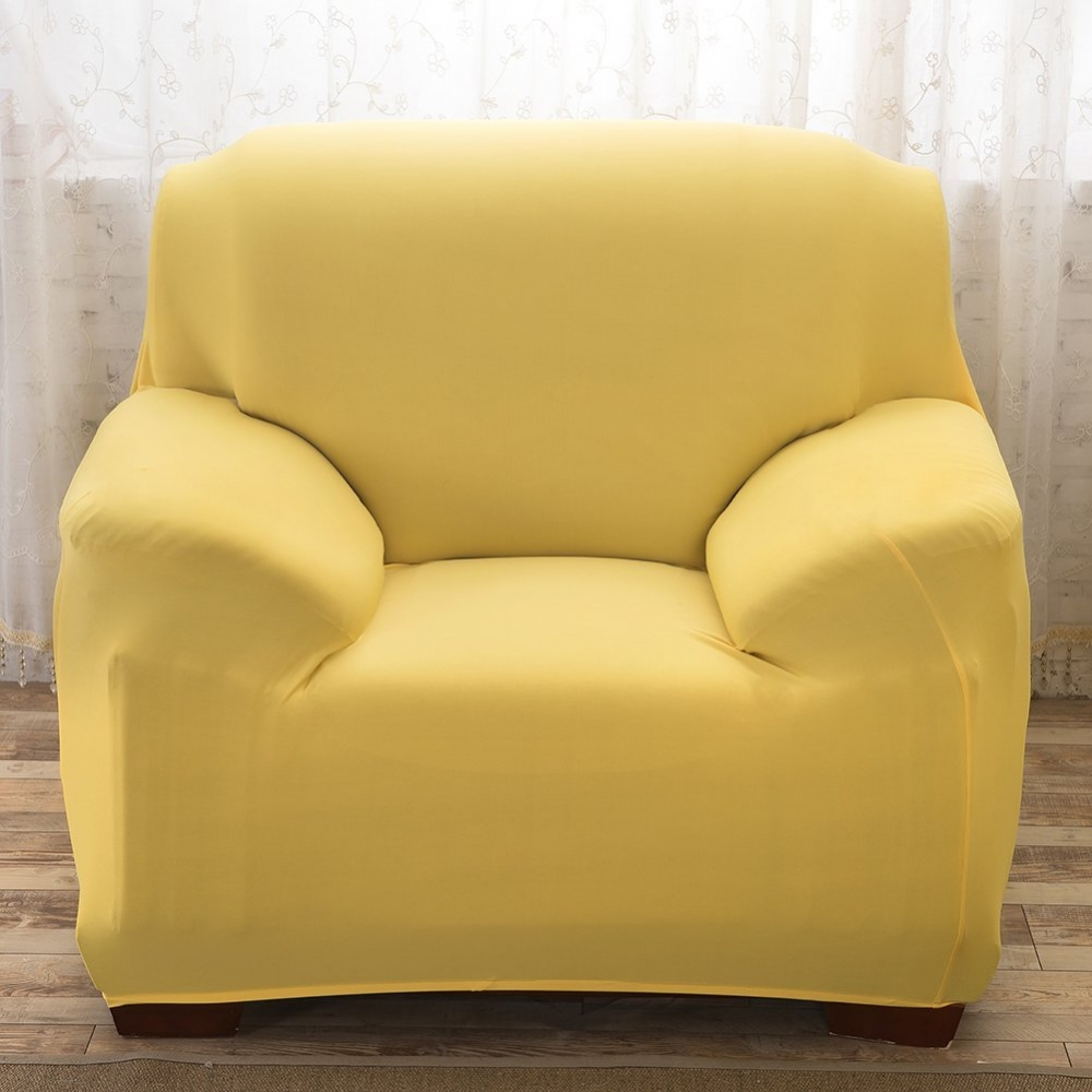 Stretch Sofa Slipcovers Reversible Couch Furniture Protector Universal Sofa Cover Yellow 2