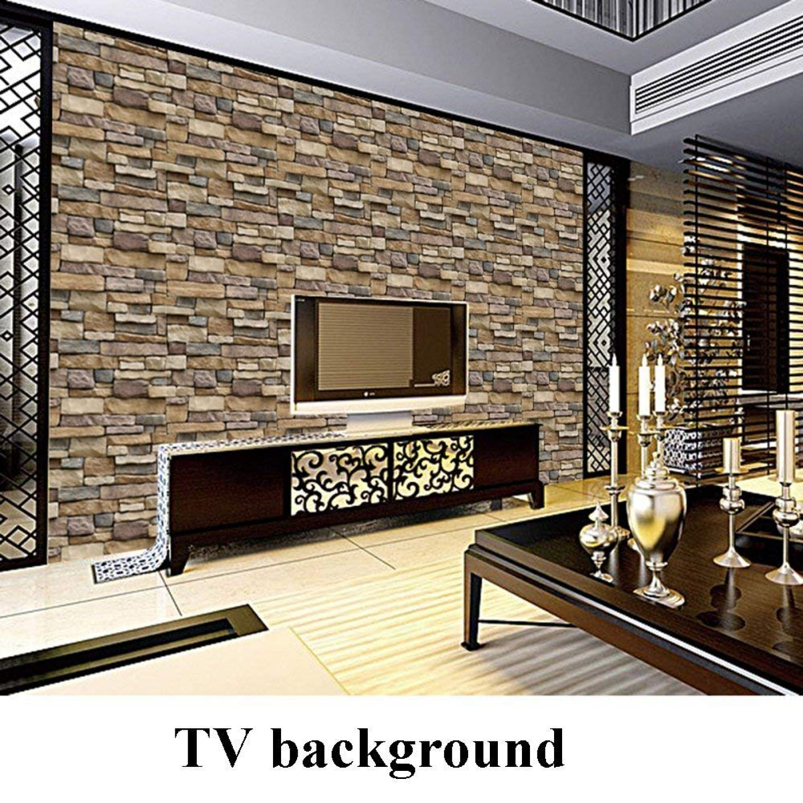 Flood Light Reviews 3d Stone Brick Wallpaper Pvc Peel And Stick Wallpaper For
