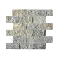 SILVER Travertine Mosaic Tile | QDI Surfaces