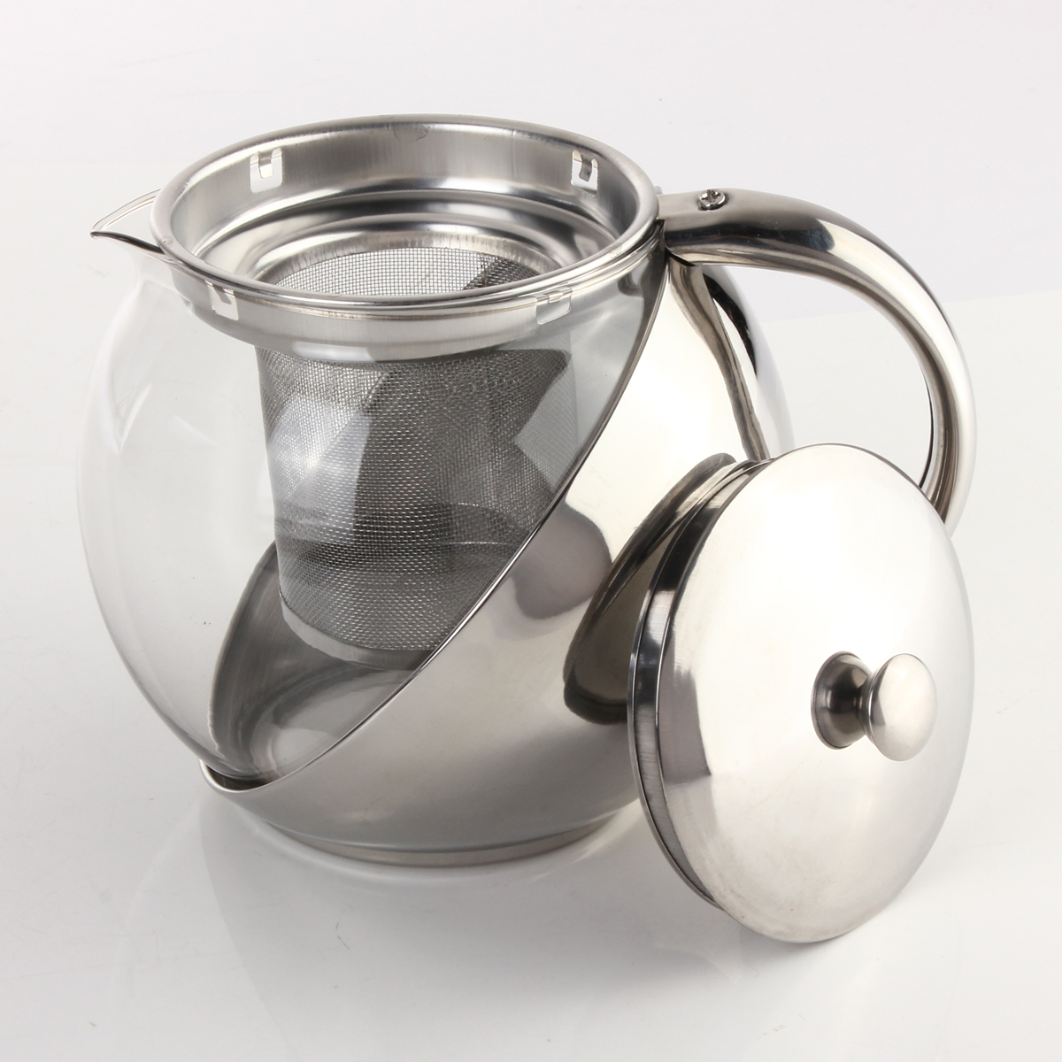 Tea Kettle With Strainer 900ml Stainless Steel Teapot Coffee Pot With Loose Tea