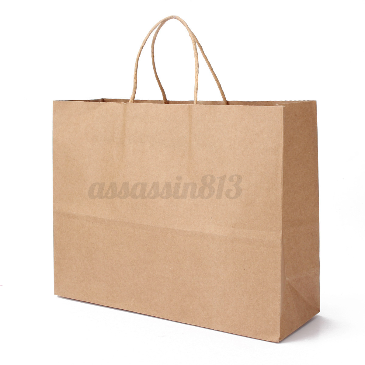 Brown Paper Bags With Handles Kmart 10pcs Kraft Brown Twisted Handle Shopping Merchandise