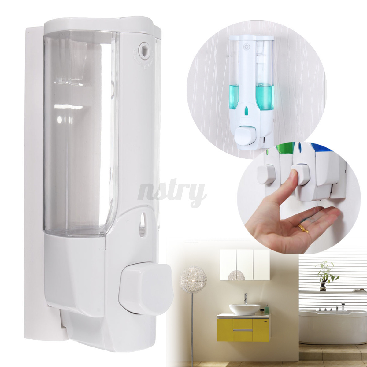 Soap And Shampoo Dispensers For Showers Home Bathroom Sanitizer Soap Dispenser Wall Mount Shower