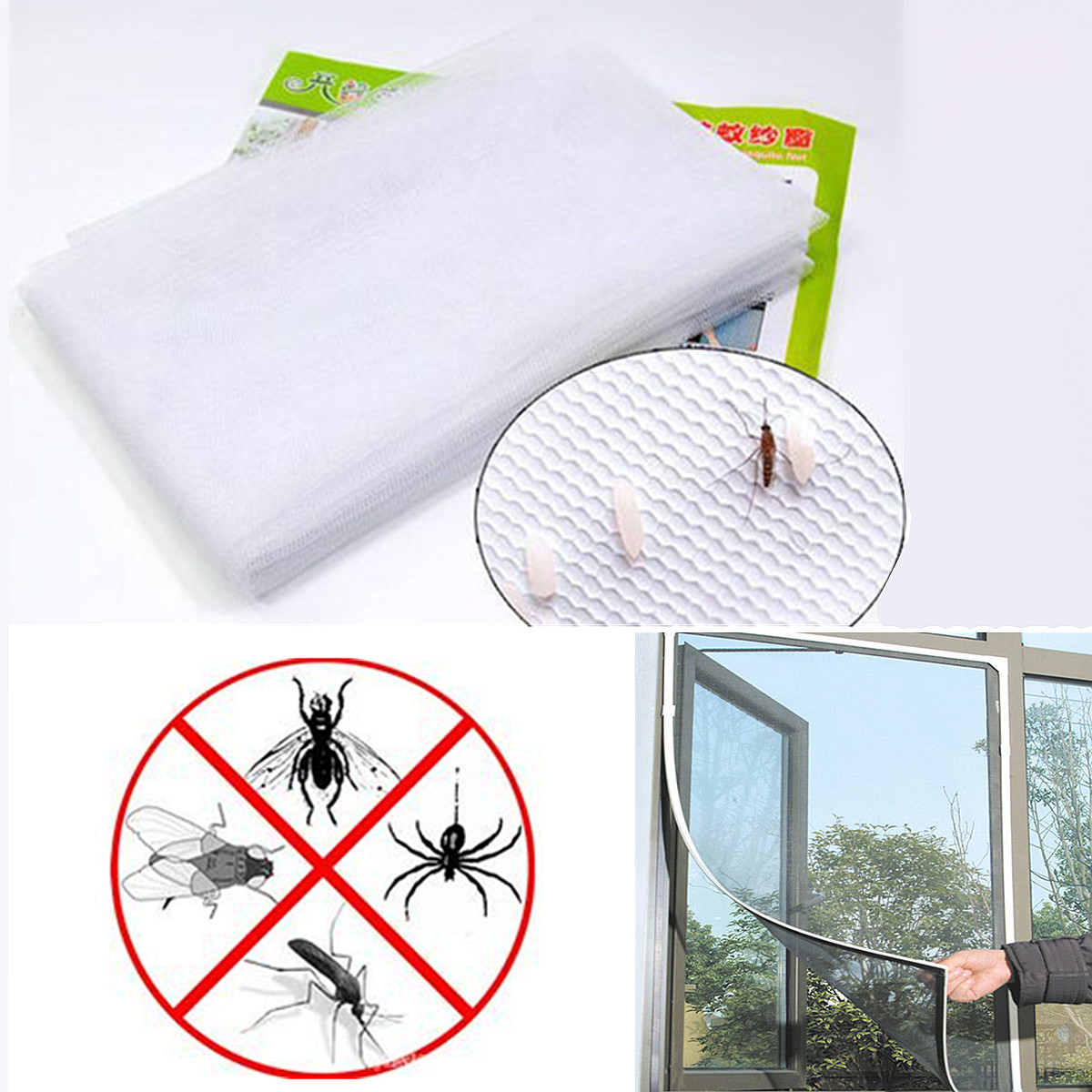 Diy Mosquito Net For Windows Window Screen Mesh Black Net Insect Fly Bug Mosquito Moth