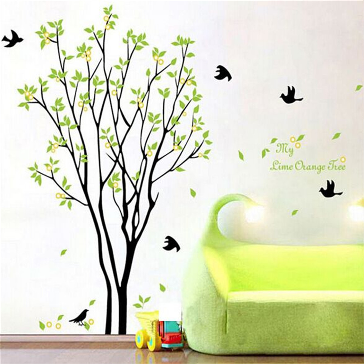 Bedroom Wall Art Trees Tree Bird Quote Removable Vinyl Wall Decal Mural Home Art