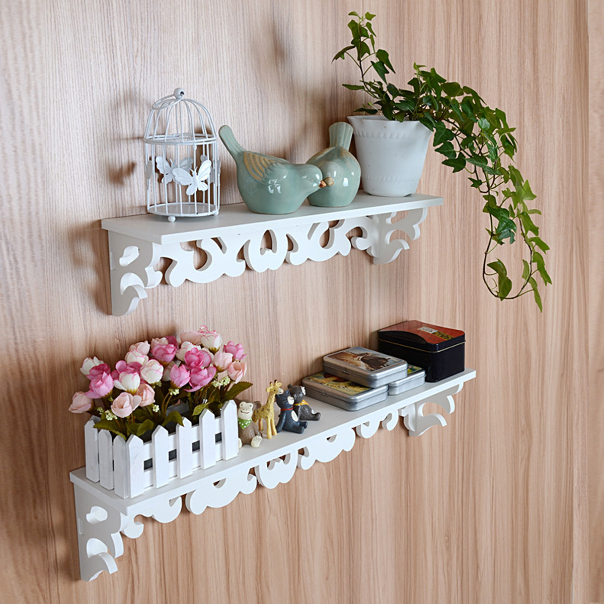 Shabby Chic Shop 1 2x Wall Floating Shelf Shabby Chic Bookshelf For Home