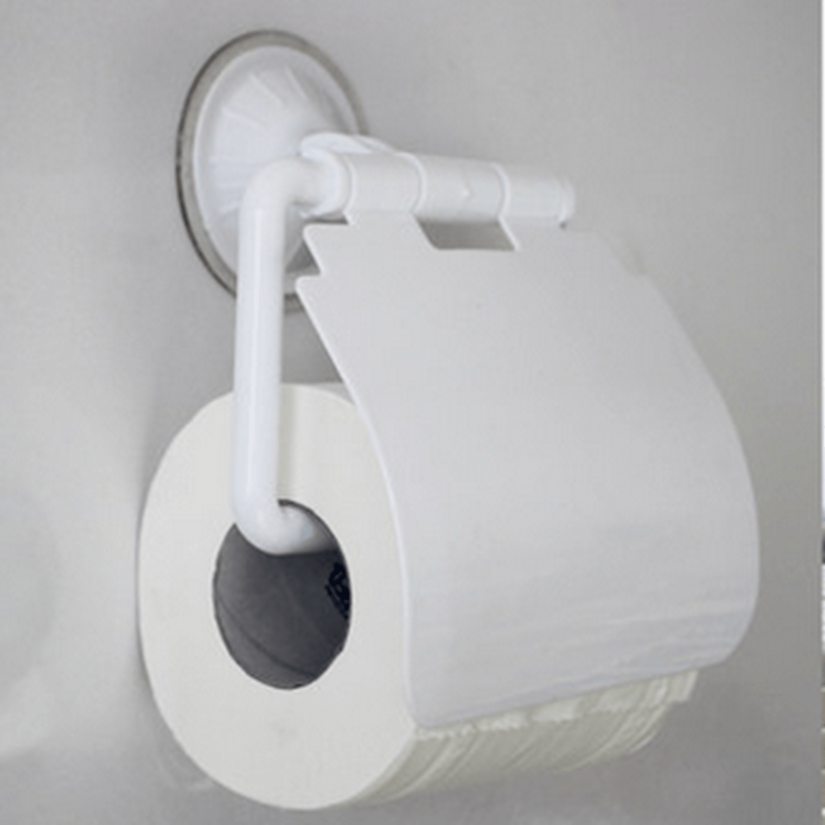 Covered Toilet Paper Storage Toilet Tissue Box Paper Holder Wall Mounted Sucker