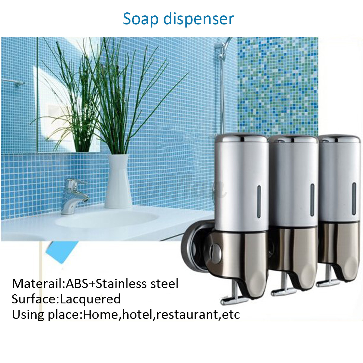 Soap Shampoo Conditioner Dispenser Wall Mounted Soap Dispenser Toilet Shower Gel Shampoo