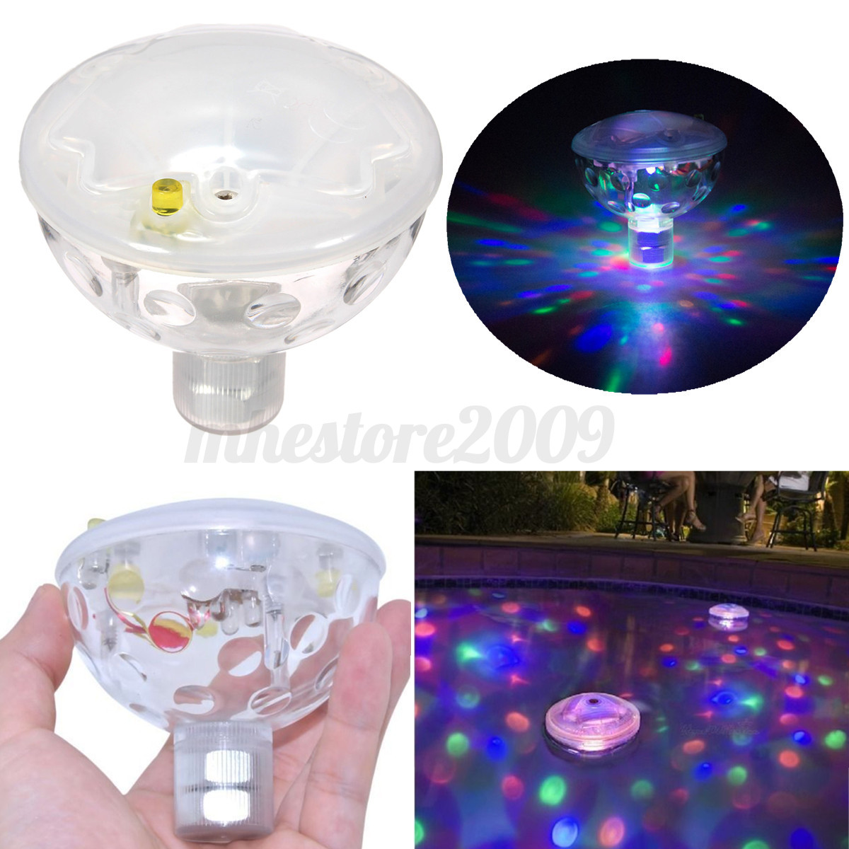Jacuzzi Underwater Pool Lights Floating Underwater Led Disco Aquaglow Light Show Swimming
