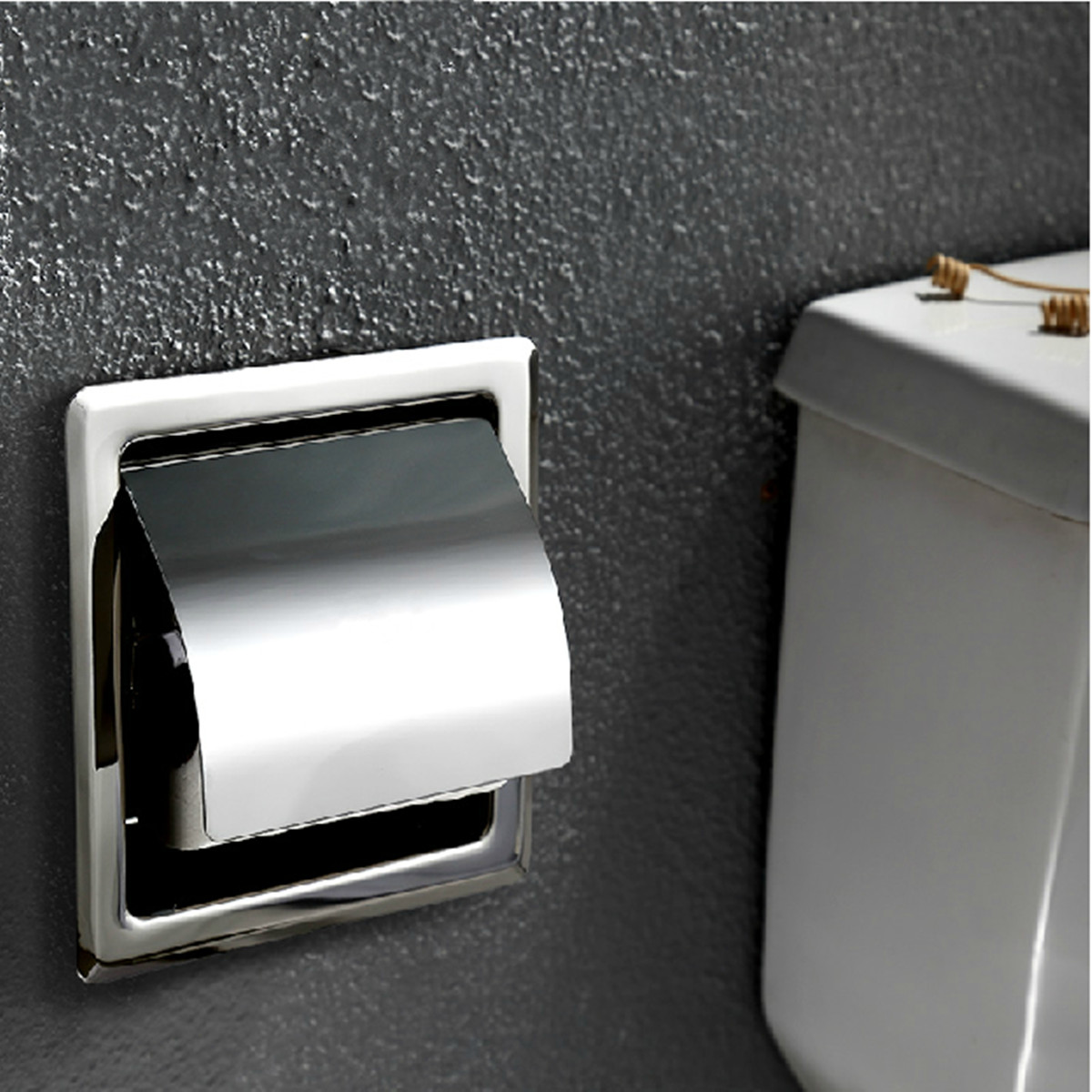 Covered Toilet Paper Storage In Wall Design Stainless Steel Bathroom Toilet Paper