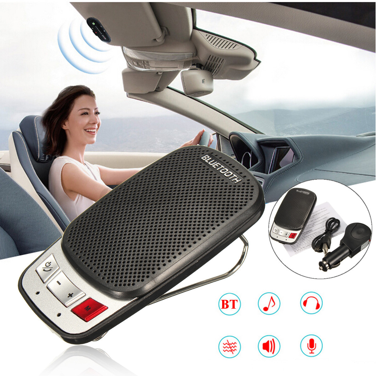 Kit Bluetooth Manos Libres Inalámbrica Bluetooth Manos Libres Kit Coche Altavoz