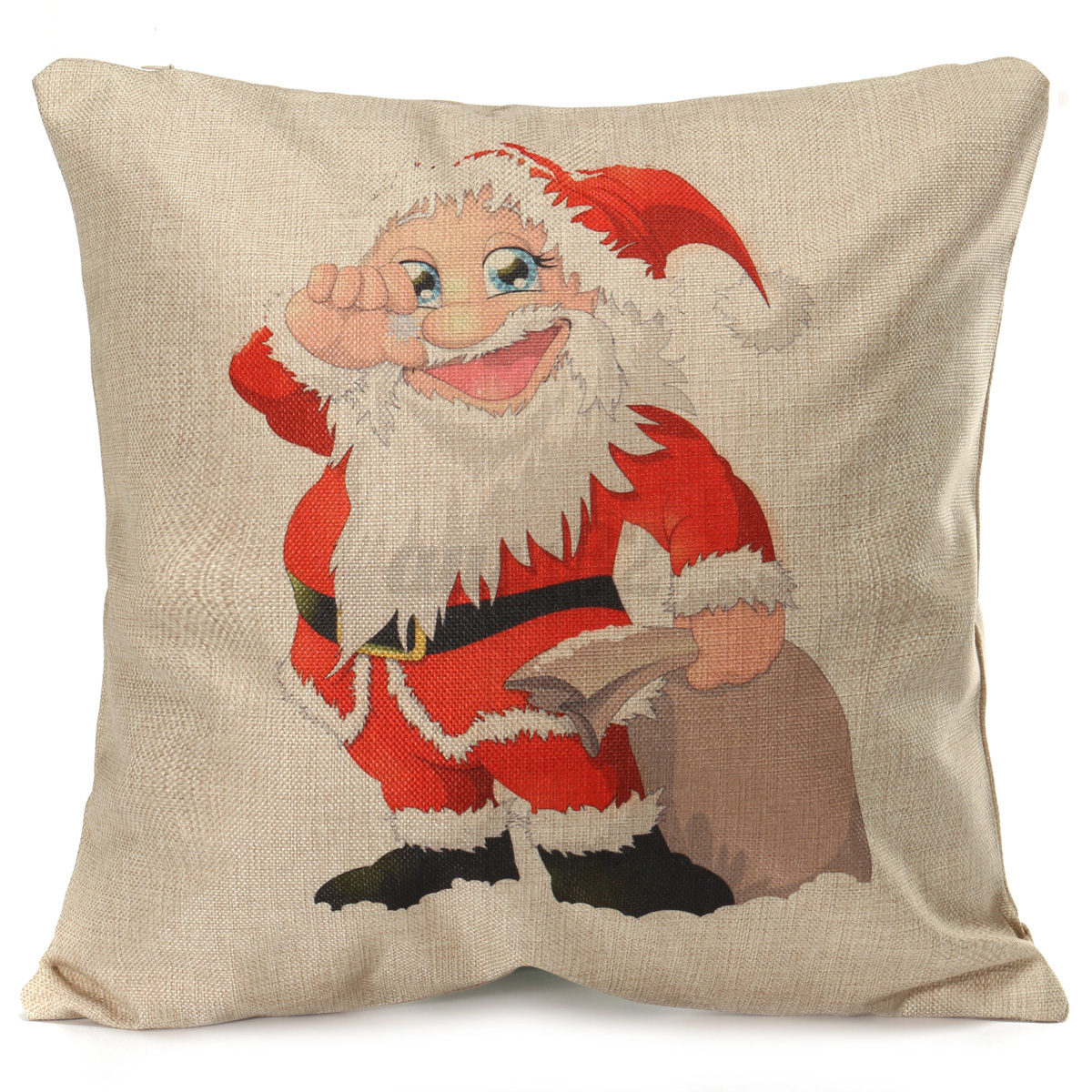 Cushion Covers Christmas Vintage Cotton Linen Throw Pillow Case Xmas Cushion Cover