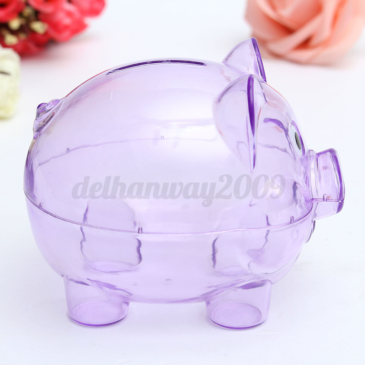 Money Bank For Kids Cute Novelty Plastic Pig Piggy Bank Saving Coins And Cash