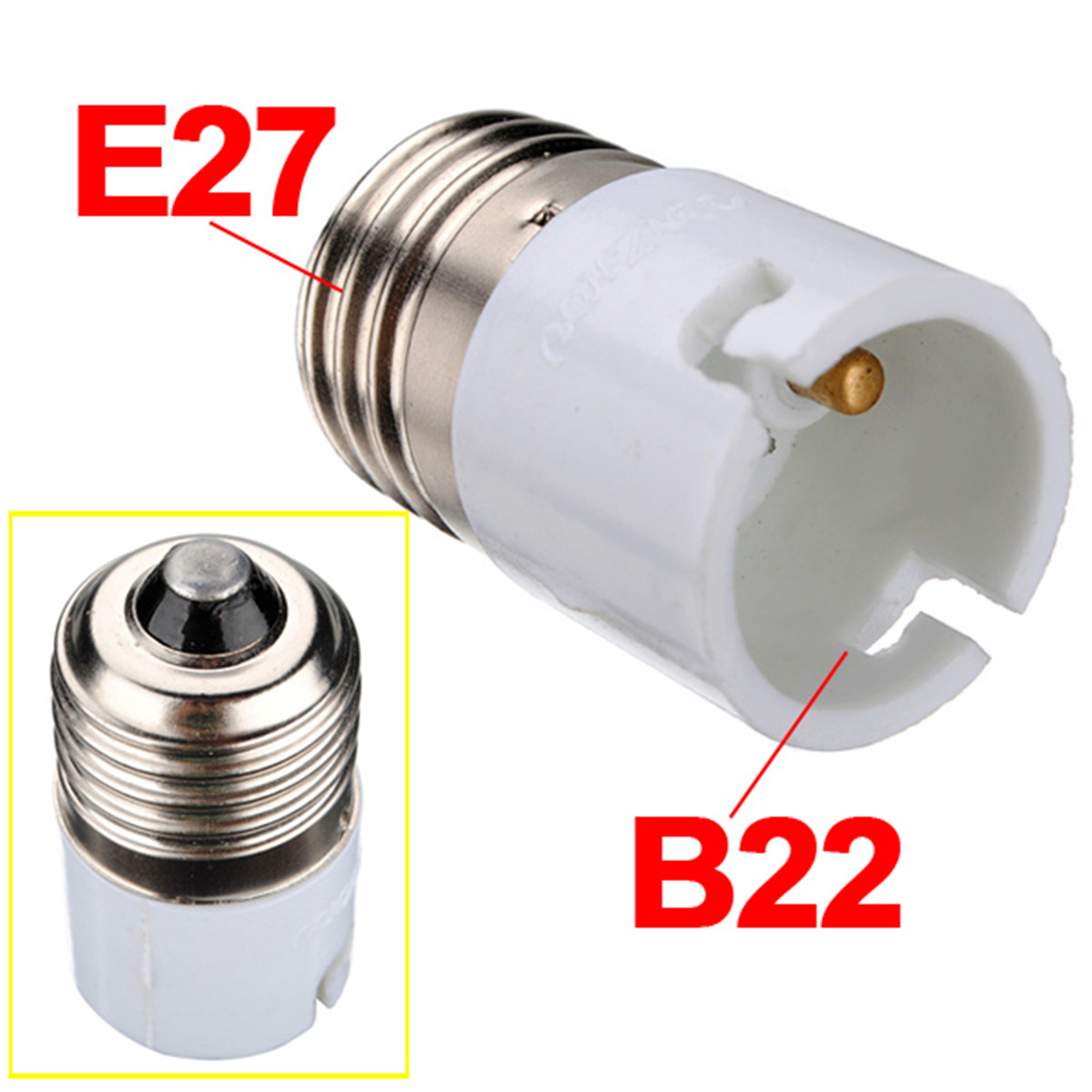 E14 E27 Adapter 2x E27 B22 E14 E12 E17 Base Socket Light Bulb Lamp Holder