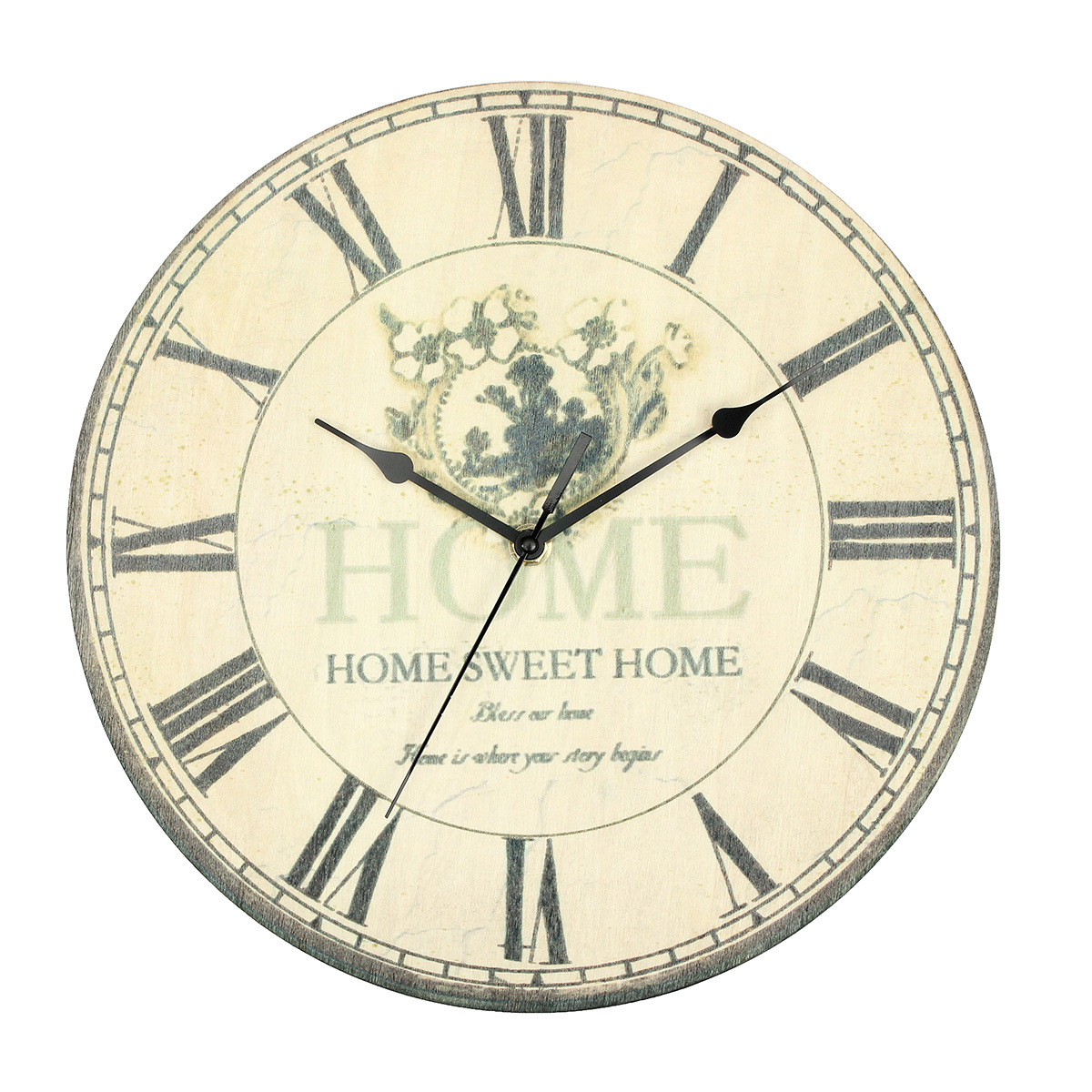 Retro Kitchen Wall Clocks Large Vintage Antique Rustic Shabby Chic Wall Clock Home
