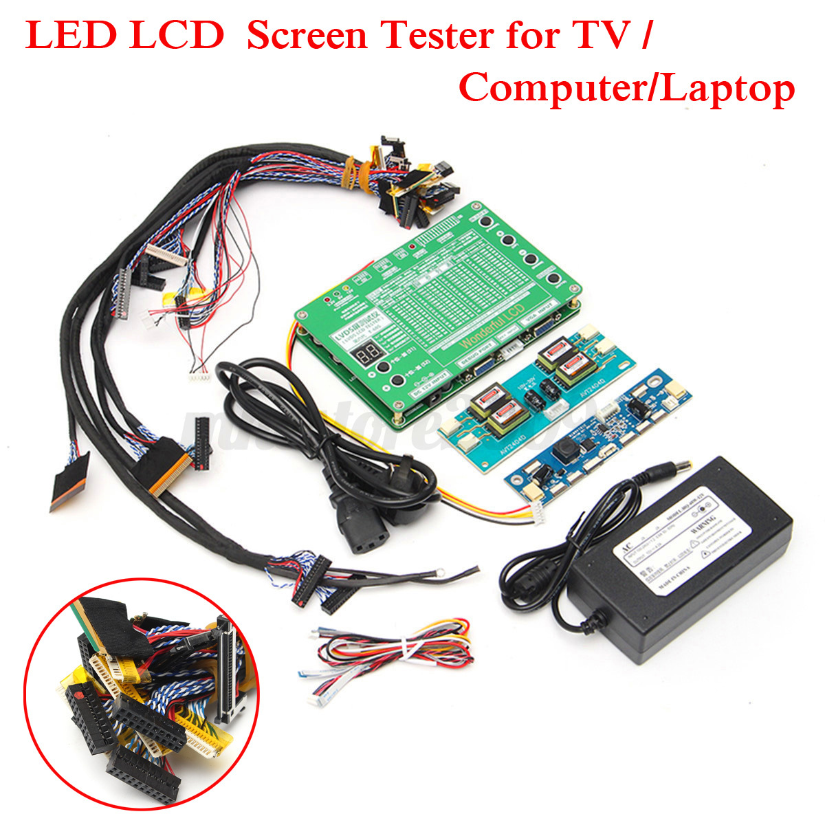 Led Panel Test Laptop Lcd Led Test Tool Kit Panel Screen Tester 43 29pcs