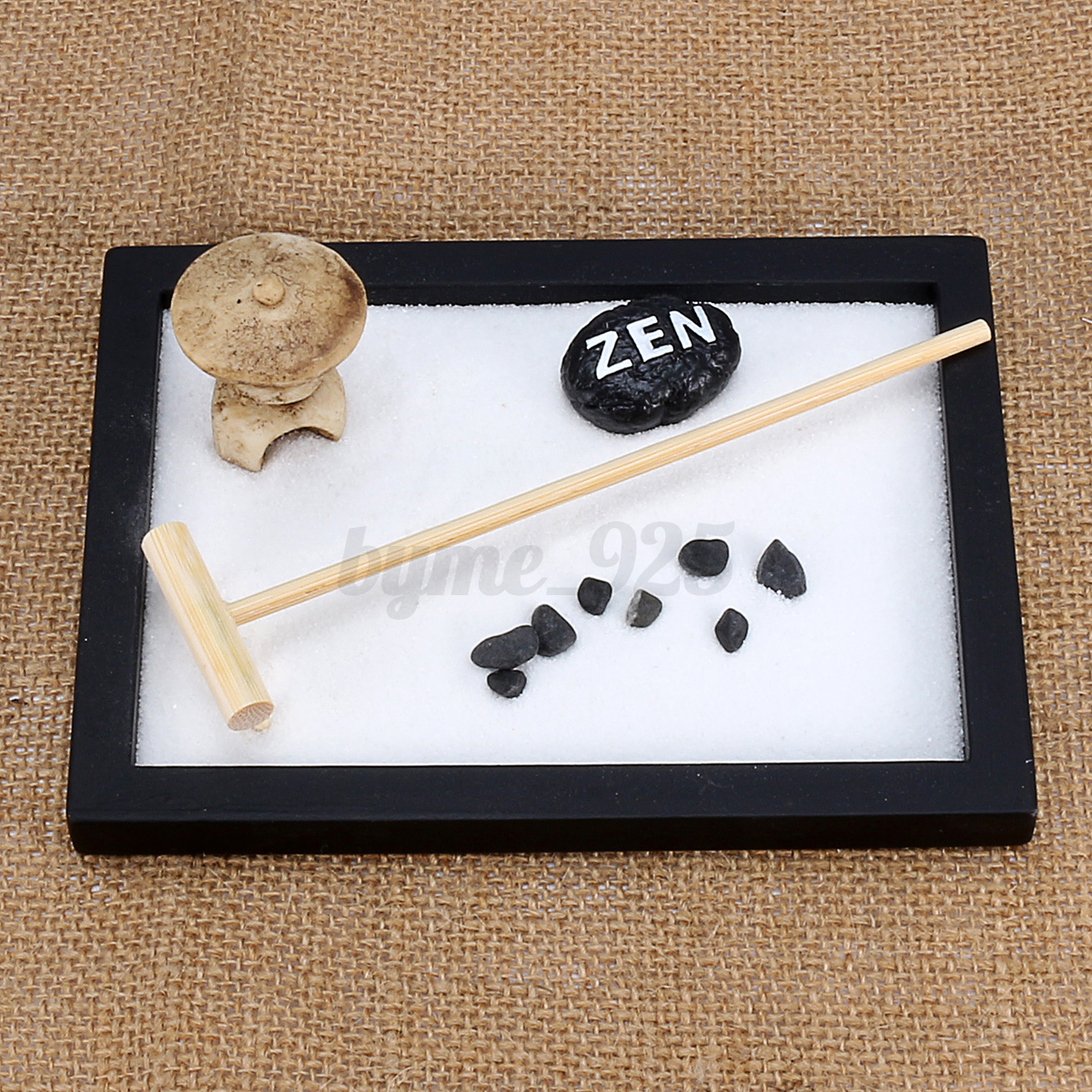 Table Top Zen Garden Details About 15cm Resin Feng Shui Zen Garden Stone Rake Pebble Sand Tabletop Tray Home