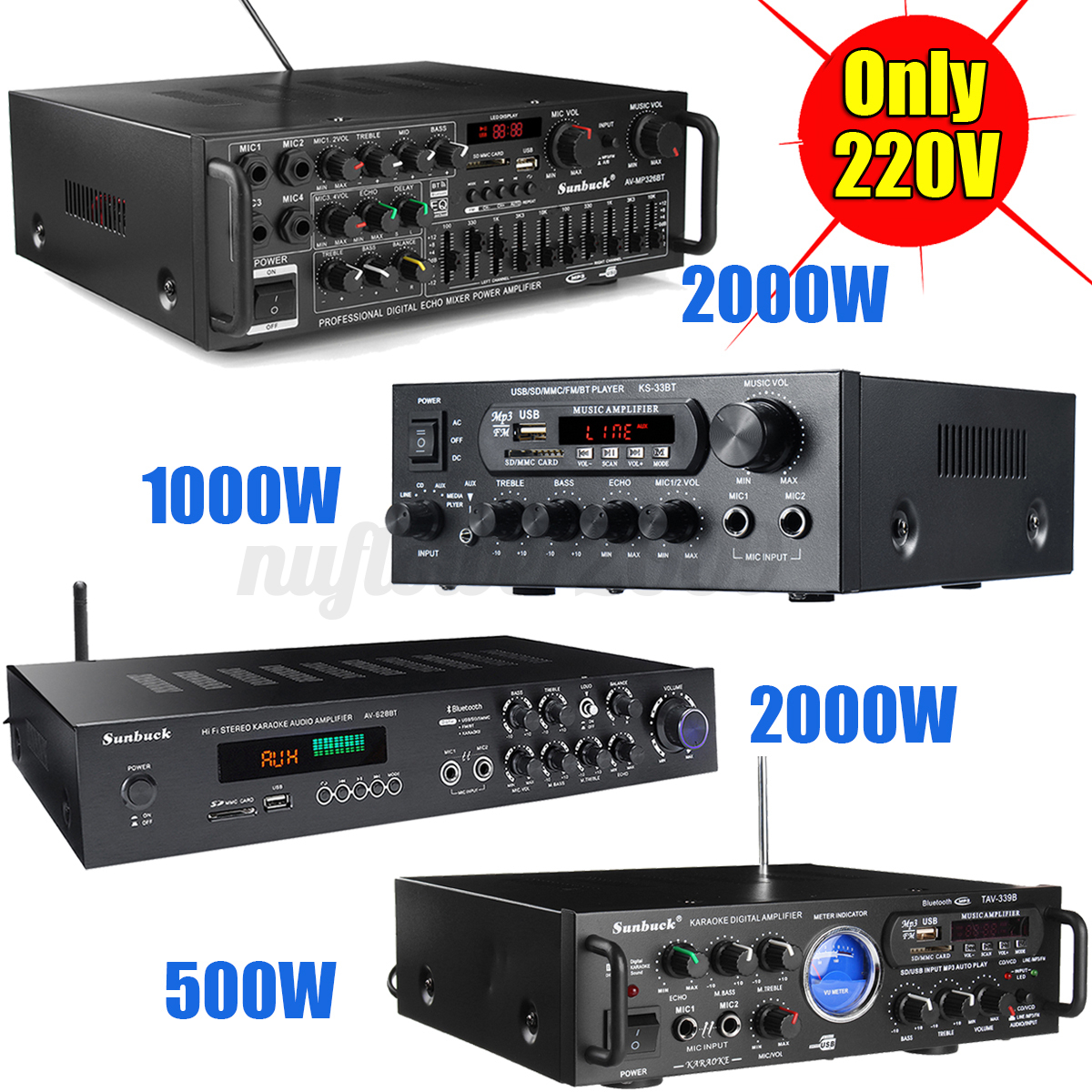 Audio Echo Details About 2000w Watts 220v Home Bluetooth Power Amplifier Stereo Amp Receiver Mixer Echo