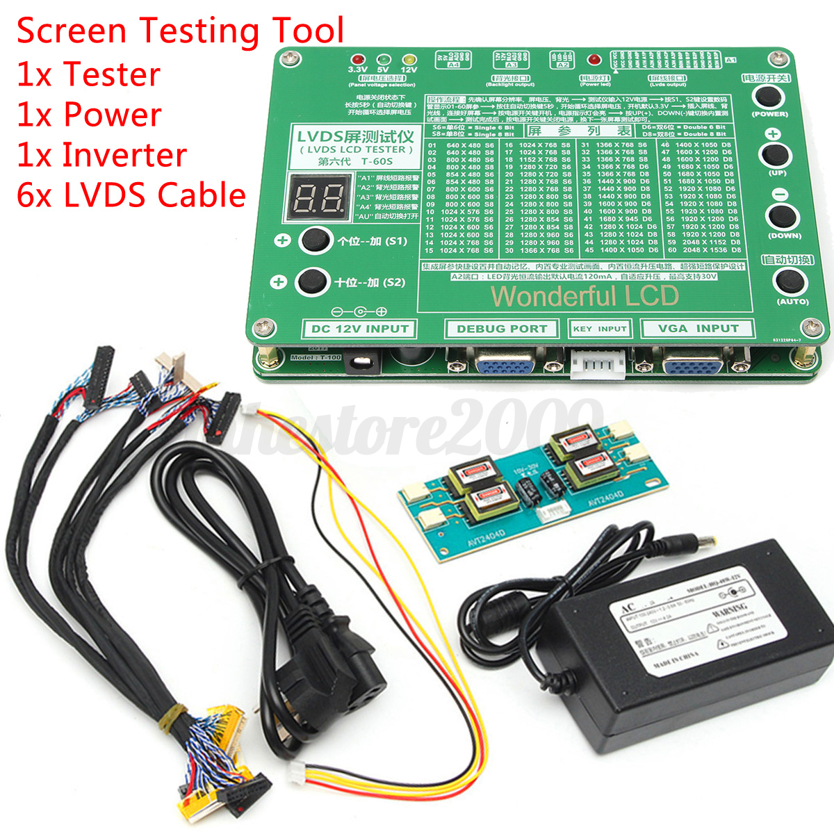 Led Panel Test Laptop Lcd Led Panel Repair Tool Kit Tv Screen Tester 4314x